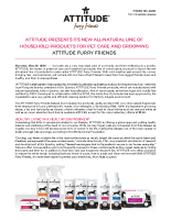 ATTITUDE Presents Its New All-Natural Line of Household Products for Pet Care and Grooming