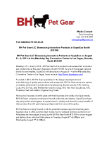 BH Pet Gear LLC Showcasing Innovative Products at SuperZoo