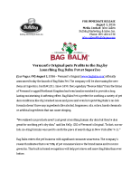 Vermont's Original puts Profits in the Bag by Launching Bag Balm Pet at SuperZoo