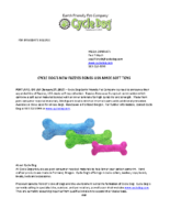 Cycle Dog's Fuzzie Bones Press Release
