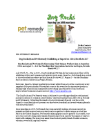 Dog Rocks® and Pet Remedy Exhibiting at SuperZoo 2016, Booth #4117