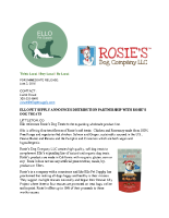 Ello Pet Supply Announces Distribution Partnership with Rosie's Dog Treats