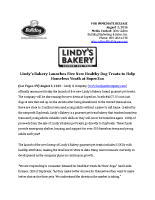 Lindy's Bakery Launches Five New Healthy Dog Treats to Help Homeless Youth at SuperZoo