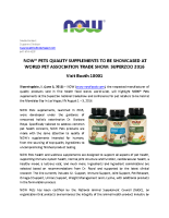NOW Pets Quality Supplements to be Showcased at World Pet Association Trad Show: SuperZoo 2016