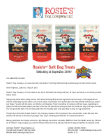 Rosie's™ Soft Dog Treats Debuting at SuperZoo 2016!