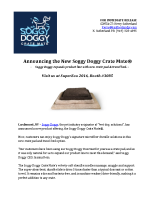 Announcing the New Soggy Doggy Crate Mate®