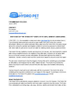 "New Start-Up ""The Hydro Pet"" Saves Pets' Lives, Owners' Landscaping"