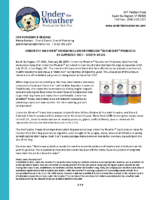 """UNDER THE WEATHER® ANNOUNCES BREAKTHROUGH """"BLAND DIET"""" PRODUCTS AT SUPERZOO 2017—BOOTH #2535"""