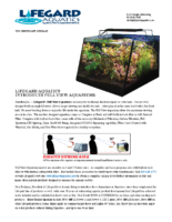LIFEGARD AQUATICS INTRODUCES FULL VIEW AQUARIUMS
