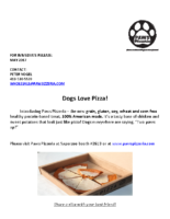 Paw Pizzeria- Dogs Love Pizza!