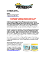 Waterdog Supplements Introduces Complete Daily Supplements, Active and Senior For Dog Health