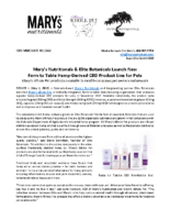Mary's Nutritionals & Elite Botanicals Launch New Farm to Table Hemp-Derived CBD Product Line for Pets