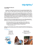 Aquapaw Launches Innovative Equine Grooming Tool, the World's First Curry Comb and Water Sprayer-in-one that Clicks On:Off with One Hand